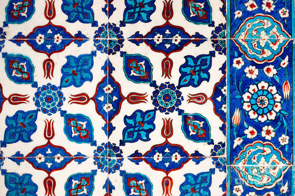 Glazed Tiles Photograph - Iznik 16 by Rick Piper Photography