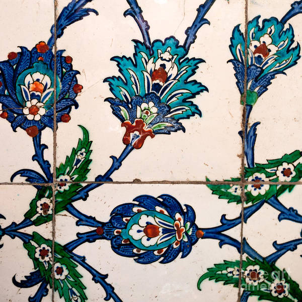 Glazed Tiles Photograph - Iznik 22 by Rick Piper Photography