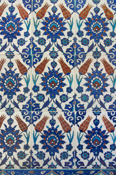 Wall Art - Photograph - Iznik Tile Panel by Ayhan Altun