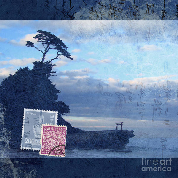 Art Paper Mixed Media - Izu by Delphimages Photo Creations