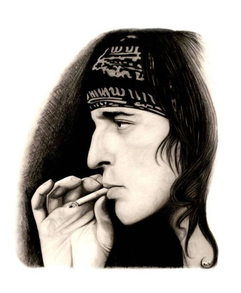Izzy Stradlin Wall Art - Drawing - Izzy Stradlin by Kris Milo