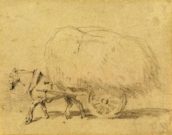 Wall Art - Drawing - J. Frederick Tayler, A Horse Pulling A Load Of Hay by Quint Lox