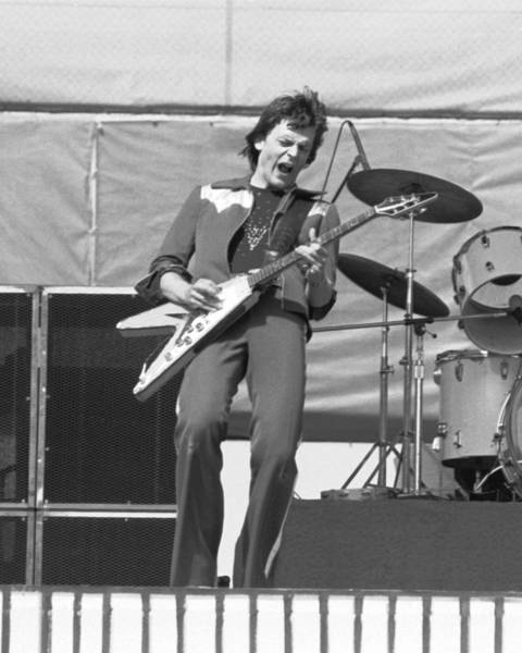 Photograph - J. Geils In Oakland 1976 by Ben Upham