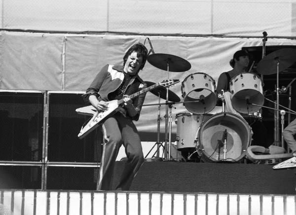 Photograph - J. Geils On Stage In Oakland 1976 by Ben Upham