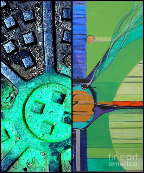 Sewer Painting - j HOT 32 by Marlene Burns