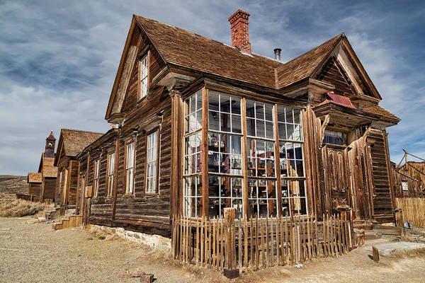 Bishop Hill Photograph - J. S. Cain Home In Bodie Ghost Town by Kathleen Bishop