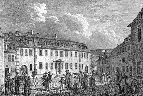 Wall Art - Drawing - J W Von Goethe His Home by Mary Evans Picture Library