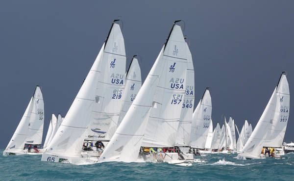 Photograph - J70s Upwind At Key West by Steven Lapkin