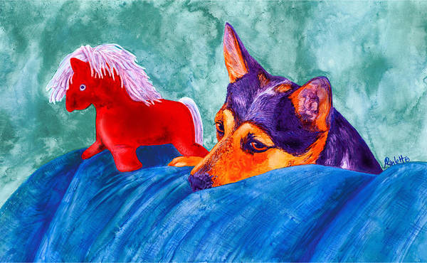 Painting - Jack And Red Horse by Ann Ranlett