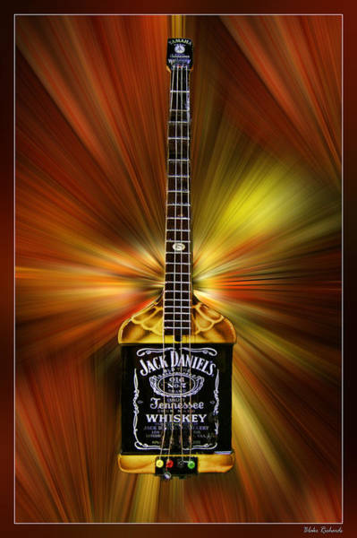 Jack Daniels Whiskey Guitar Art Print