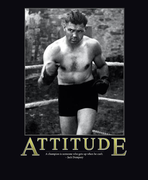 Fearless Photograph - Jack Dempsey Attitude by Retro Images Archive