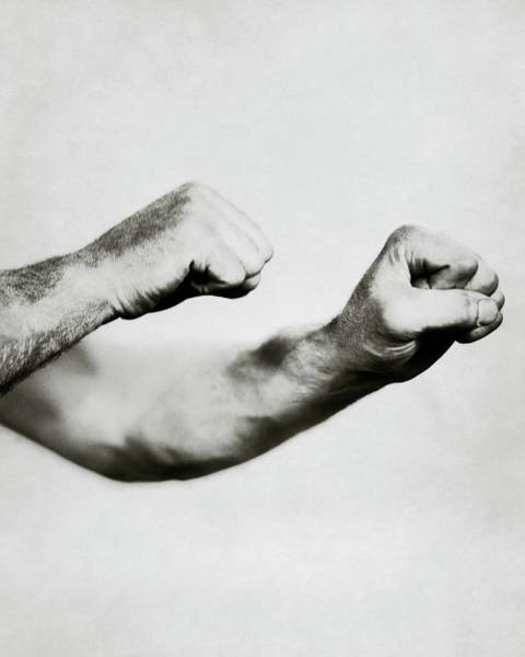 Male Photograph - Jack Dempsey's Hands by Ira L. Hill