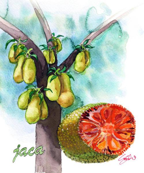 Brazil Painting - Jack Fruit by Yoshiharu Miyakawa