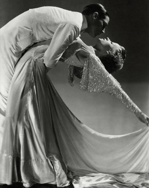 Two People Photograph - Jack Holland And June Hart Dancing by Horst P. Horst