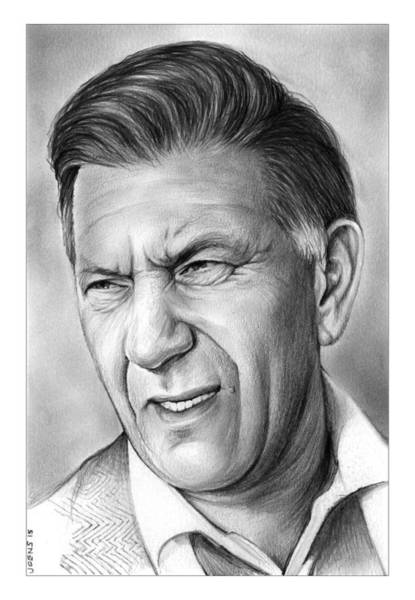 Portraits Drawing - Jack Klugman by Greg Joens