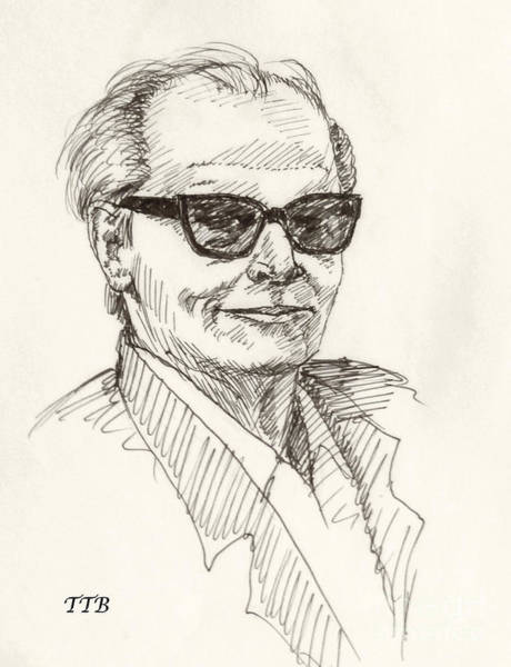 Drawing - Jack Nicholson by Art By - Ti   Tolpo Bader
