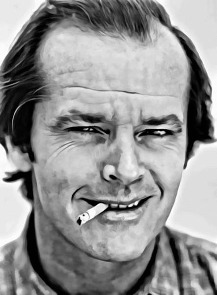 Painting - Jack Nicholson by Florian Rodarte