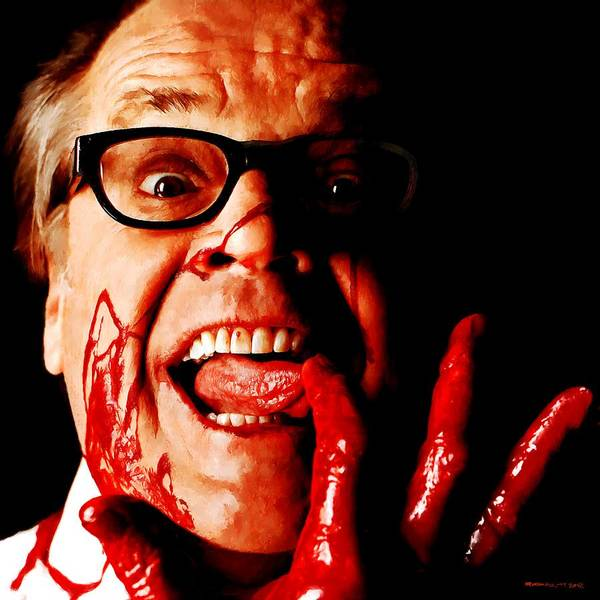 Jack Nicholson Painted From Photo Of Matthew Rolston Art Print