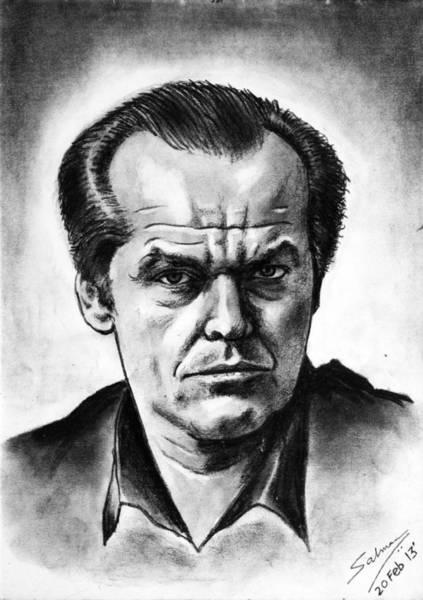 Cuckoo Drawing - Jack Nicholson by Salman Ravish