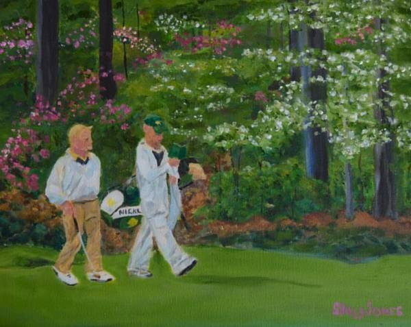 Augusta Masters Painting - Jack Nicklaus At The Masters by Sally Jones