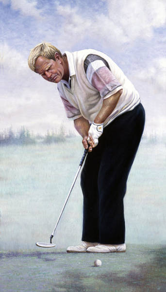 Golfers Painting - Jack Nicklaus by Gregory Perillo