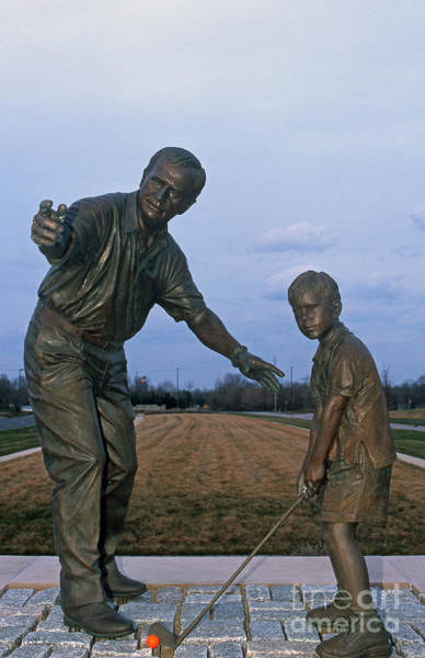 Photograph - 36u-245 Jack Nicklaus Sculpture Photo by Ohio Stock Photography