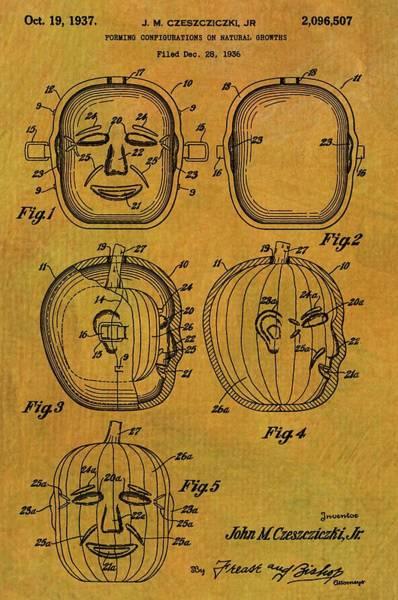 Digital Art - Jack O Lantern Patent by Dan Sproul