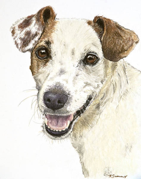 Art Print featuring the painting Jack Russell Terrier Portrait by Kate Sumners