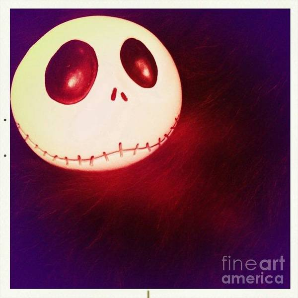 Jack Skellington Glowing Art Print