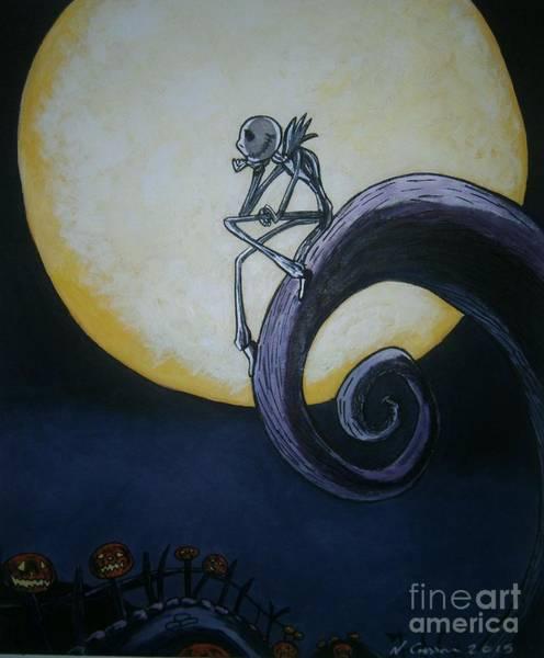Skellington Painting - Jack Skellington by Neal Crossan