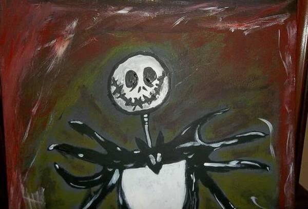 Skellington Painting - Jack Skellington by Tasha Rackley