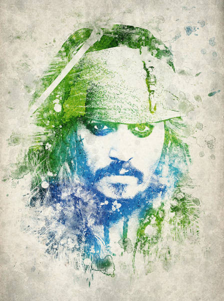Pirates Of The Caribbean Digital Art - Jack Sparrow by Aged Pixel