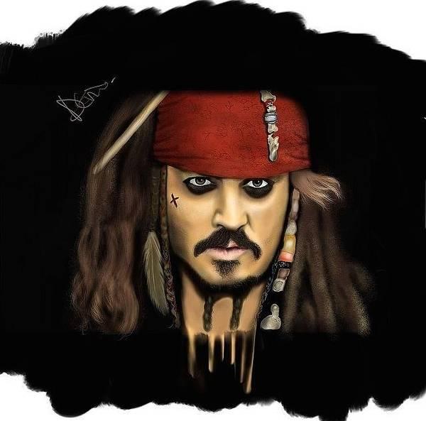 Pirates Of The Caribbean Digital Art - Jack Sparrow by Caleb Tony