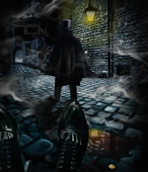 Cloak Digital Art - Jack The Ripper by Alessandro Della Pietra