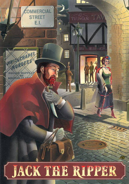 Serial Killer Painting - Jack The Ripper by MGL Meiklejohn Graphics Licensing
