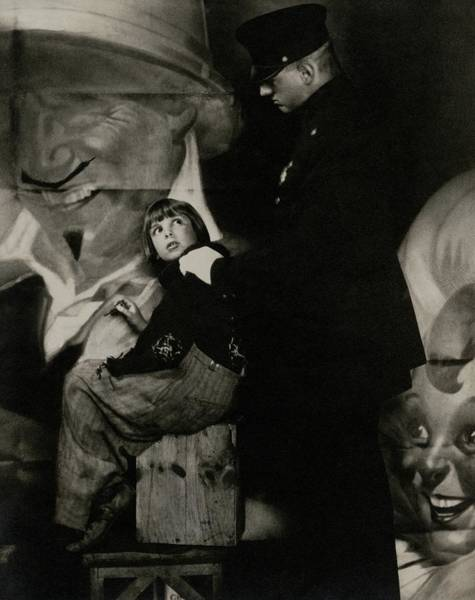 Photograph - Jackie Coogan With A Policeman by Edward Steichen