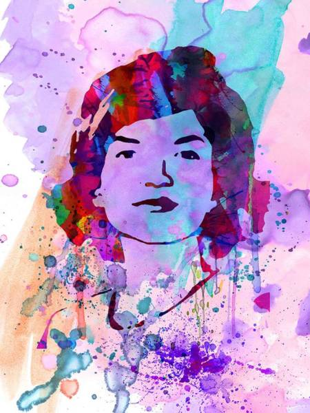 Wall Art - Painting - Jackie Kennedy Watercolor by Naxart Studio