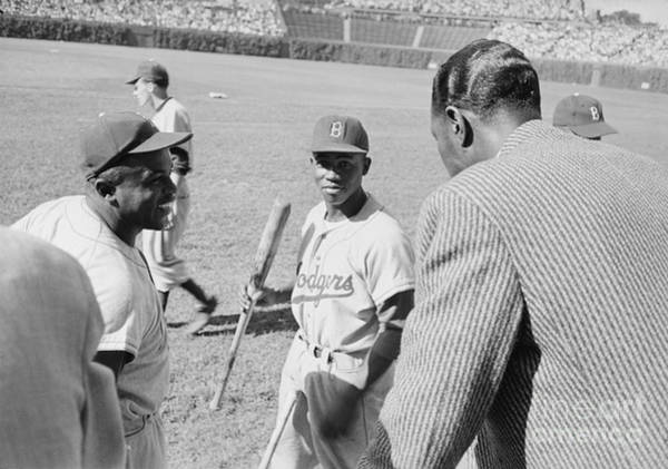 Jackie Robinson Wall Art - Photograph - Jackie Robinson Hank Aaron And Nat King Cole by The Harrington Collection