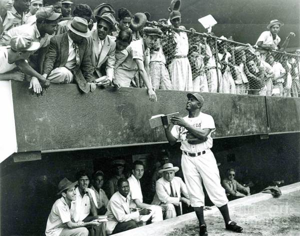 Baseball Hall Of Fame Photograph - Jackie Robinson Signs Autographs Vintage Baseball by R Muirhead Art