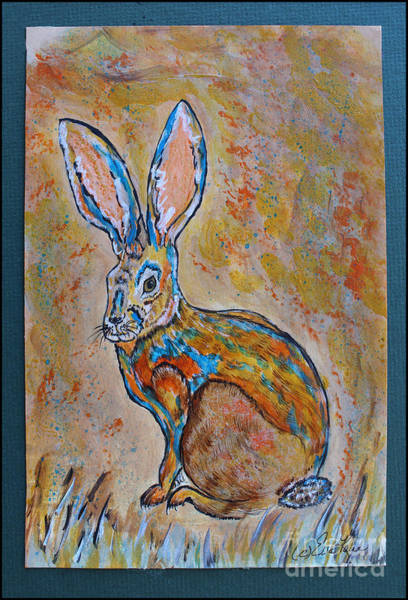 Wild Rabbit Painting - Jackrabbit by Ella Kaye Dickey