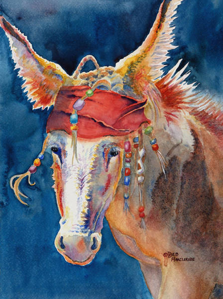 Sonoran Desert Wall Art - Painting - Jack Burro -  Donkey by Deb Harclerode