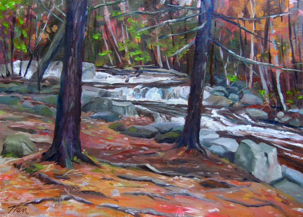 Painting - Jackson Falls Jackson New Hampshire by Nancy Griswold