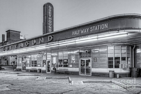 Photograph - Jackson Greyhound Bus Station Iv by Clarence Holmes