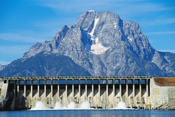 Spillway Photograph - Jackson Lake Dam, Wyoming by William H. Mullins