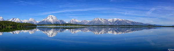 Photograph - Jackson Lake Spring Panorama Limited Edition by Greg Norrell