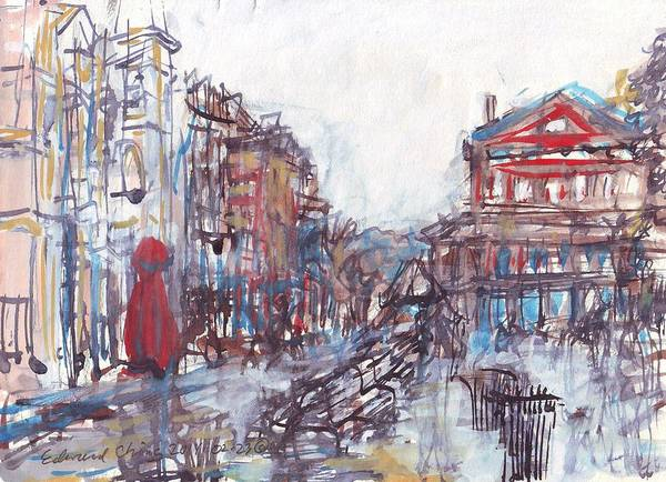 Mississippi River Drawing - Jackson Square French Quarter by Edward Ching