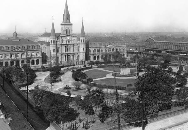 1900 Photograph - Jackson Square In New Orleans by Underwood Archives