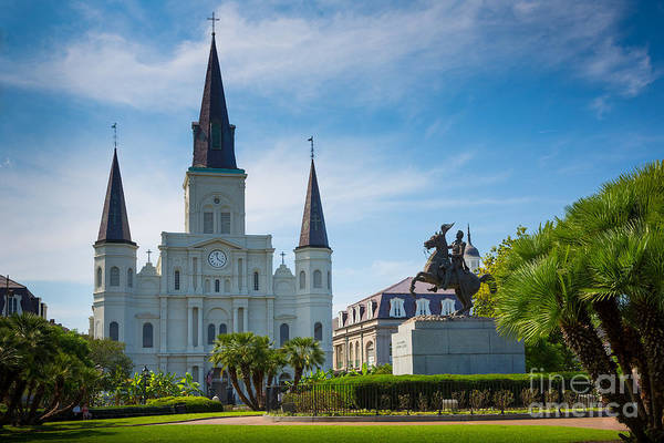 Vieux Carre Wall Art - Photograph - Jackson Square by Inge Johnsson