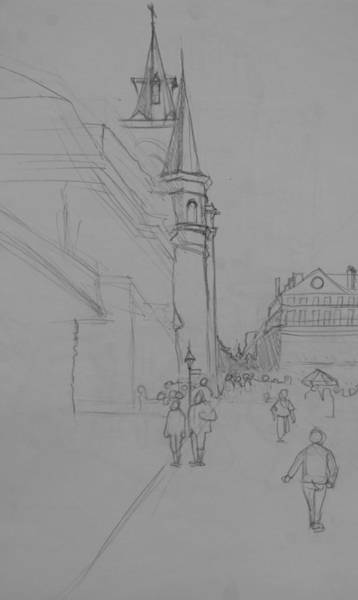 Drawing - Jackson Square New Orleans by Jani Freimann
