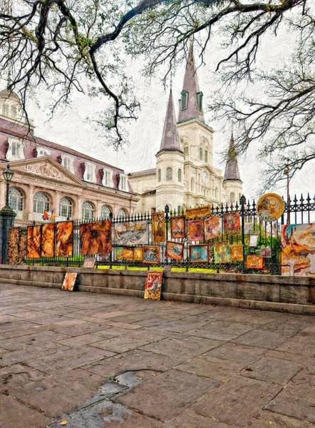 Steve Harrington Wall Art - Photograph - Jackson Square Winter Impasto by Steve Harrington